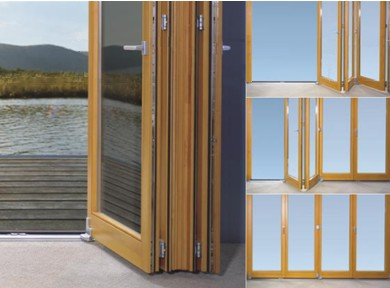 Baie coulissante pliante - Porte accordeon aluminium ...
